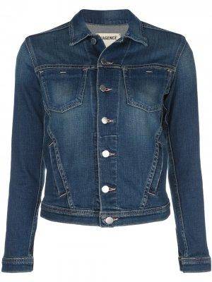 LAgence джинсовая куртка Janelle узкого кроя L'Agence. Цвет: синий