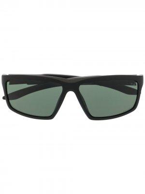 Солнцезащитные очки в прямоугольной оправе Puma. Цвет: черный