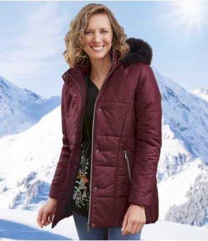 Стеганая Куртка с Утепленным Капюшоном Atlas For Men. Цвет: бордо