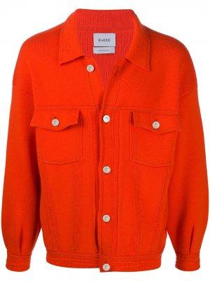 Джинсовая куртка оверсайз Barrie. Цвет: оранжевый