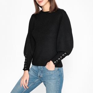 Пуловер с круглым вырезом из тонкого трикотажа ZELIE BA&SH. Цвет: черный