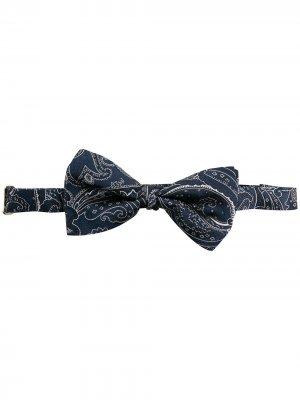 Жаккардовый галстук-бабочка с узором пейсли ETRO. Цвет: синий