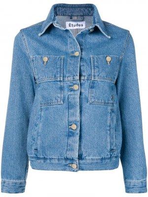 Джинсовая куртка Celeste Études. Цвет: синий