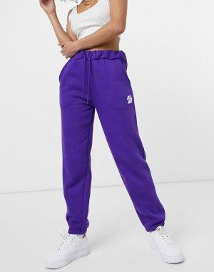 Джоггеры в стиле oversized фиолетового цвета -Фиолетовый цвет Criminal Damage