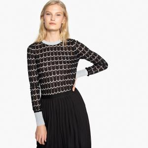 Пуловер с круглым вырезом из тонкого трикотажа PEPE JEANS. Цвет: черный