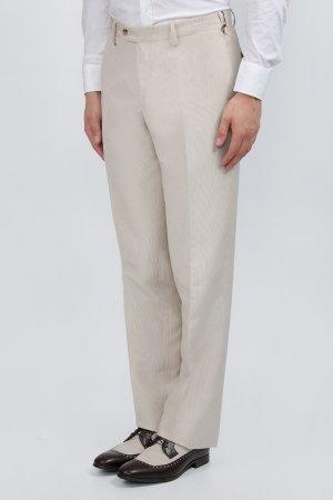 Молочные классические брюки BILANCIONI. Цвет: бежевый