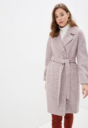 Пальто Electrastyle. Цвет: розовый