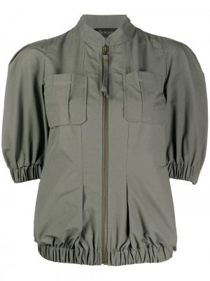 Куртка с короткими рукавами Mr & Mrs Italy. Цвет: зеленый