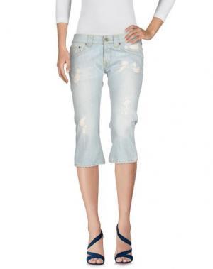Джинсовые брюки-капри SEVENTY SERGIO TEGON. Цвет: синий