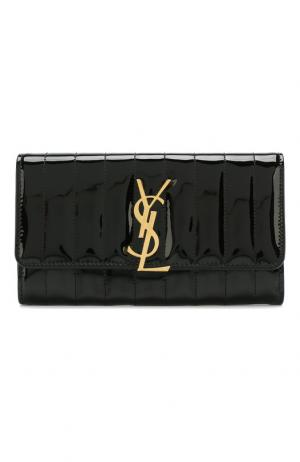 Лакированный кошелек Vicky Saint Laurent. Цвет: черный