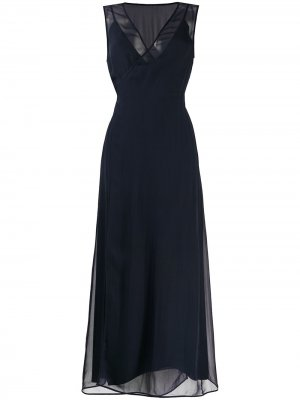 Полупрозрачное многослойное платье миди Erika Cavallini. Цвет: черный