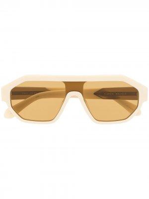 Солнцезащитные очки Tribon Karen Walker. Цвет: белый
