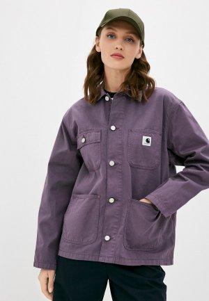 Куртка джинсовая Carhartt WIP Michigan Coat. Цвет: фиолетовый