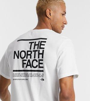 Белая футболка Message эксклюзивно для ASOS-Белый The North Face