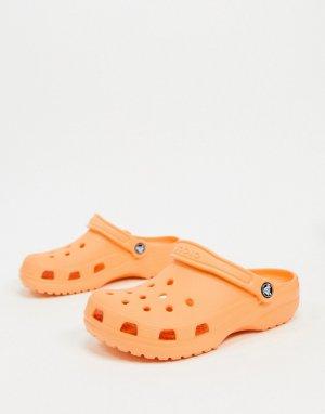 Оранжевые классические кроксы -Оранжевый Crocs