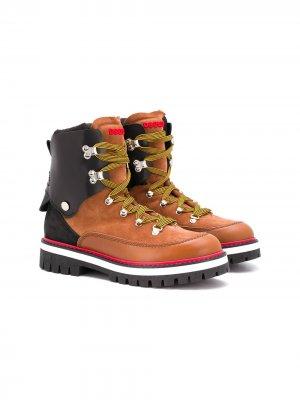 Ботинки на шнуровке Dsquared2 Kids. Цвет: коричневый