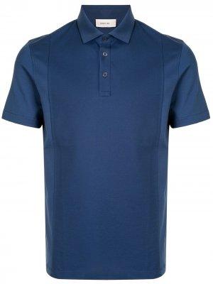 Рубашка поло с короткими рукавами Cerruti 1881. Цвет: синий
