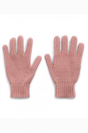 Розовые перчатки из кашемира Bonpoint. Цвет: розовый