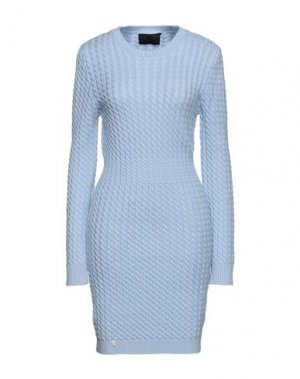 Короткое платье PHILIPP PLEIN. Цвет: небесно-голубой