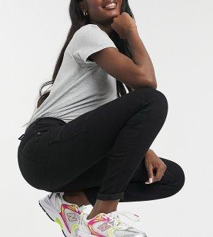 Зауженные черные брюки-карго Lexy-Черный цвет Dr Denim Tall