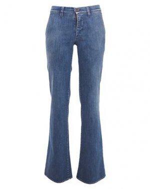 Джинсовые брюки AVANTGAR DENIM by EUROPEAN CULTURE. Цвет: синий