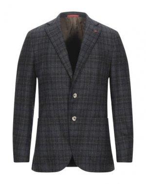 Пиджак ISAIA. Цвет: стальной серый
