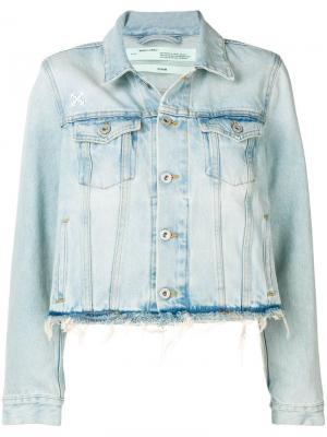 Джинсовая куртка с бахромой Off-White. Цвет: синий