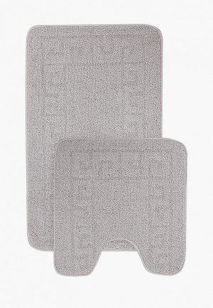 Комплект ковриков Эго 50х80 см, 50х50 см. Цвет: серый