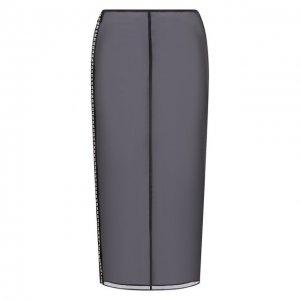 Шелковая юбка Jil Sander. Цвет: чёрный