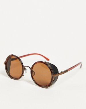 Солнцезащитные очки с защитными боковыми элементами -Коричневый цвет Jeepers Peepers