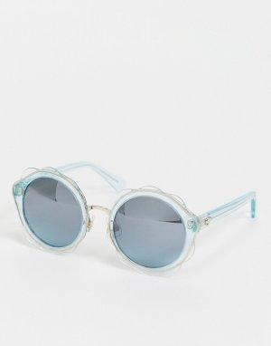 Солнцезащитные очки в форме цветов Karrie-Серебристый Kate Spade