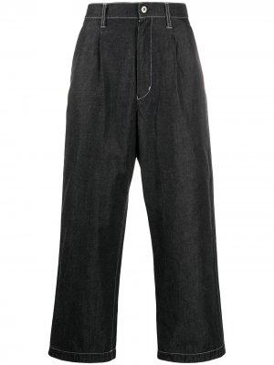 Широкие джинсы с завышенной талией Junya Watanabe MAN. Цвет: синий