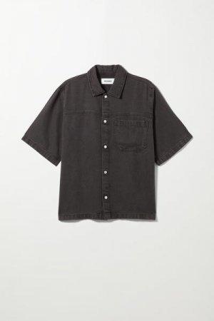 Джинсовая рубашка свободного кроя Weekday. Цвет: черный