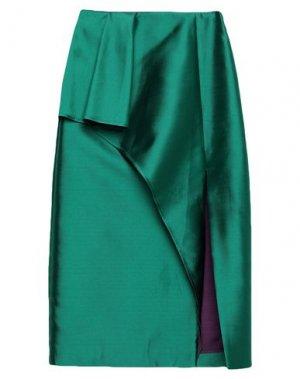 Юбка длиной 3/4 ALEXANDR ROGOV. Цвет: темно-зеленый