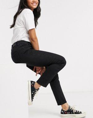 Черные джинсы скинни с завышенной талией curvy-Черный цвет American Eagle