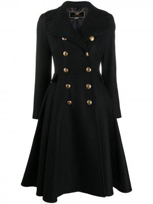 Пальто на двух пуговицах Elisabetta Franchi. Цвет: черный