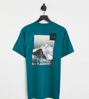 Зеленая футболка с принтом открытки – эксклюзивно для ASOS-Зеленый цвет The North Face