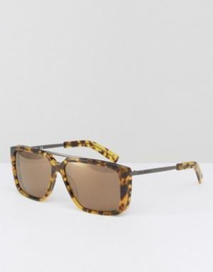 Солнцезащитные очки в квадратной оправе Karl Lagerfeld. Цвет: коричневый