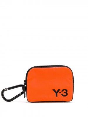 Кошелек для монет с логотипом Y-3. Цвет: оранжевый