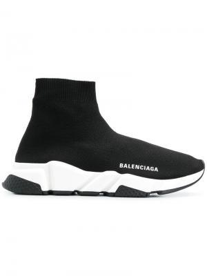 Кроссовки-носки Speed Balenciaga. Цвет: черный
