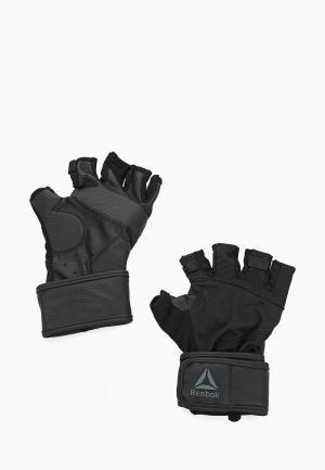 Перчатки для фитнеса Reebok OS U WRIST GLOVE. Цвет: черный