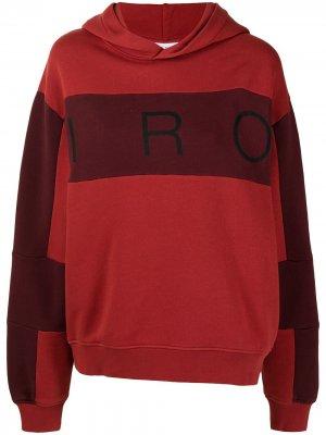 Logo-print panelled hoodie IRO. Цвет: красный