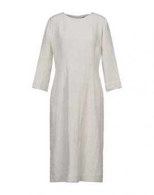 Платье миди HACHE. Цвет: бежевый