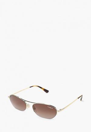 Очки солнцезащитные Vogue® Eyewear VO4107S 848/13. Цвет: золотой
