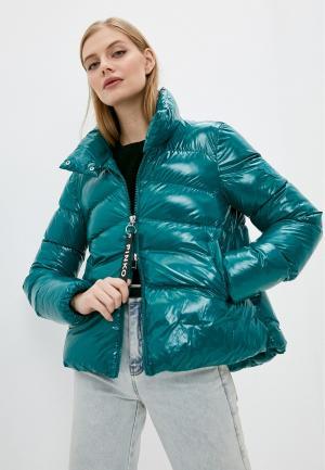Куртка утепленная Pinko. Цвет: бирюзовый