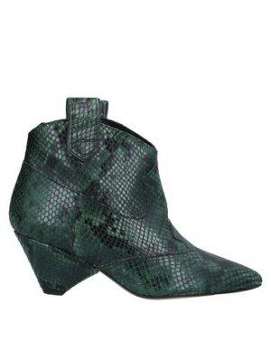 Полусапоги и высокие ботинки ALCHIMIA. Цвет: темно-зеленый