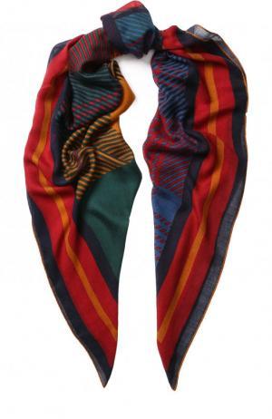 Шаль из смеси кашемира и шелка с принтом Loro Piana. Цвет: красный