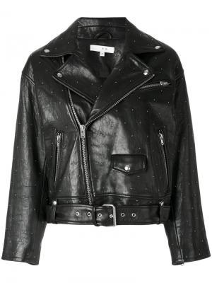 Байкерская куртка Pimlico с заклепками Iro. Цвет: чёрный