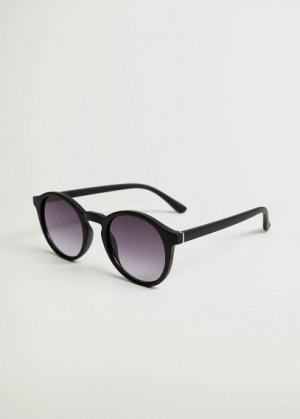 Солнцезащитные очки круглой формы - Porter Mango. Цвет: черный