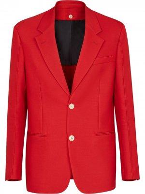Однобортный пиджак строгого кроя Fendi. Цвет: красный